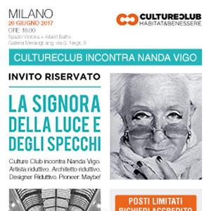 Incontro con NANDA VIGO. Milano, 20 giugno 2017. Conferma la tua presenza
