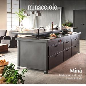 Minacciolo inventa Minà, cucina con isola multifunzione