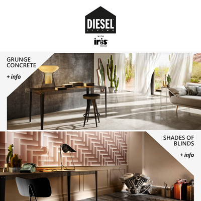 Iris Ceramica e Diesel Living: nuove superfici | catalogo 2017