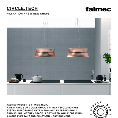 Cappe filtranti Falmec collezione Circle.Tech: scarica il catalogo