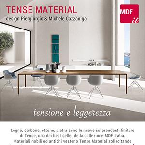 Tense Material, il nuovo tavolo MDF Italia by Piergiorgio & Michele Cazzaniga