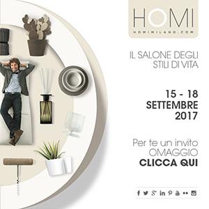 Scopri HOMI: Il Salone degli Stili di Vita - Milano, 15-18 settembre 2017