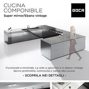 Cucina componibile Doca con ante a specchio