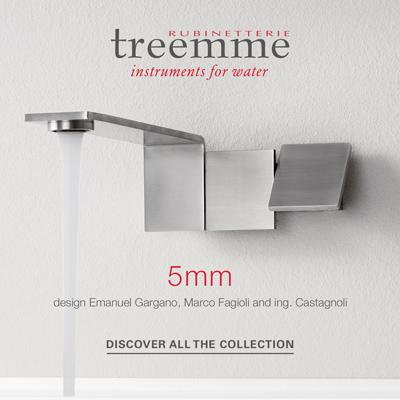 5mm, l'iconico miscelatore di Rubinetterie Treemme