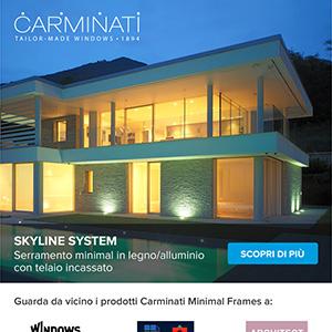 Serramenti minimali in legno/alluminio con telaio incassato Skyline System