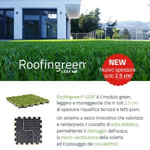 Novità Roofingreen Leaf: spessore ridotto