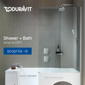 Doccia e vasca in uno: Duravit presenta Shower + Bath