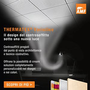 Controsoffitti personalizzabili Knauf AMF Thermatex Varioline