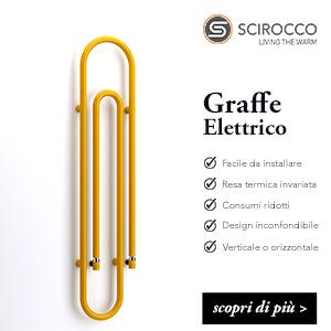 Scaldasalviette elettrico d'arredo Scirocco H: Graffe
