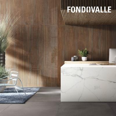Ceramica Fondovalle: effetto marmo, cemento, lamiera
