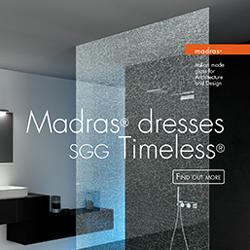 Il vetro Madras veste SGG Timeless