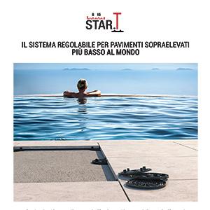 STAR.T: Il più basso sistema regolabile per pavimenti sopraelevati