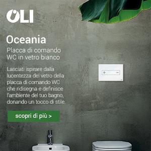 Placca di comando WC in vetro bianco Oceania by Oli
