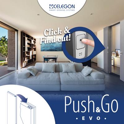 Sblocco magnetico per porte a doppia anta: Push & Go EVO Celegon