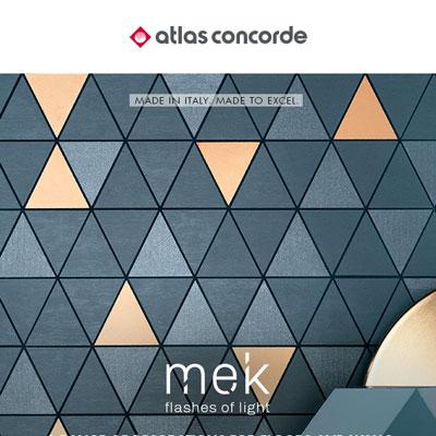 Geometrie e suggestioni metallizzate: Mek by Atlas Concorde