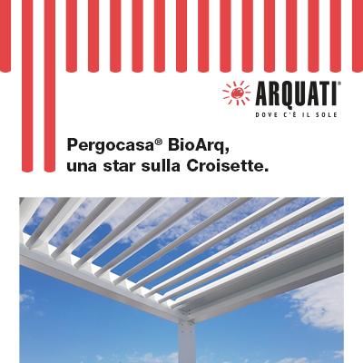 Pergole bioclimatiche Arquati: star sulla Croisette