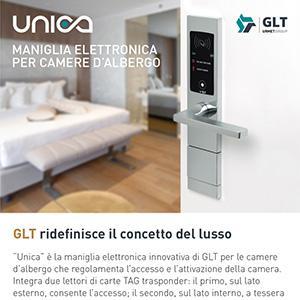 Maniglie elettroniche per alberghi Unica GLT