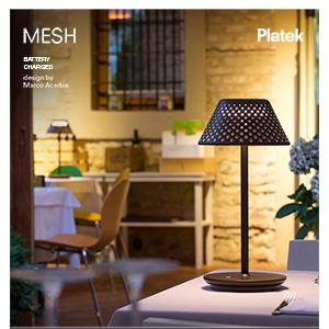 Lampada per esterno a batteria MESH by Platek