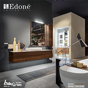 Collezione bagno Edoné Chrono, nuova finitura natural wood