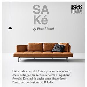 B&B Italia e Piero Lissoni presentano il sistema di sedute SAKé