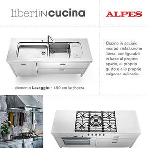 Cucine in acciaio modulari personalizzabili Alpes Inox