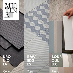 Ceramiche Mutina: grandi lastre e pattern grafici