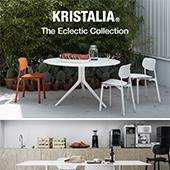 La collezione eclettica di sedie e tavoli di Kristalia