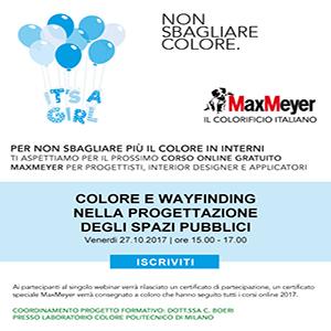 La progettazione del colore negli spazi pubblici, Webinar gratuito MaxMeyer