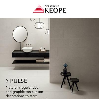 Effetto cemento e decori glamorous: Ceramiche Keope presenta Pulse