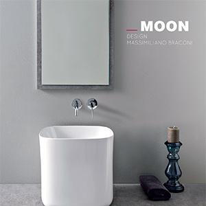 Collezione lavabi in ceramica MOON by Scarabeo Ceramiche