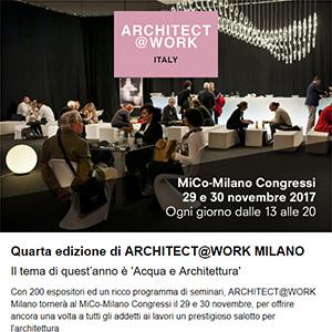 Architect at Work Italia Milano: ottieni il tuo biglietto - 29 e 30 novembre
