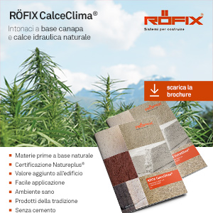 Intonaci a base di canapa e calce idraulica RÖFIX CalceClima