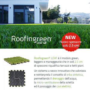 Nuovi spessori ridotti per Roofingreen Leaf - scheda tecnica