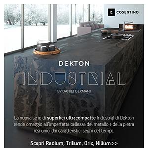 Superfici ultracompatte Dekton by Cosentino: nuova collezione Industrial