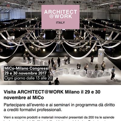 Architect at Work Italia Milano: scarica il tuo biglietto - 29 e 30 novembre