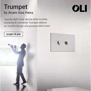 Placca di comando Trumpet: Alvaro Siza per Oli