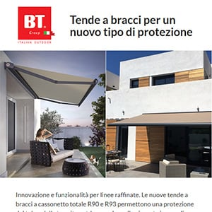 Tende a bracci a cassonetto totale BT Group