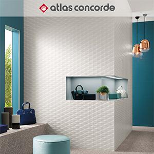 Nuove superfici tridimensionali 3D Wall Design by Atlas Concorde
