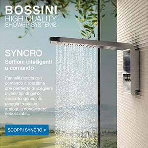 Soffioni doccia Bossini con differenti getti d'acqua