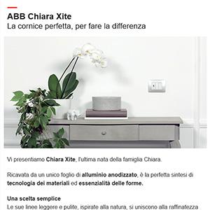 ABB | Scopri la nuova placca Chiara Xite