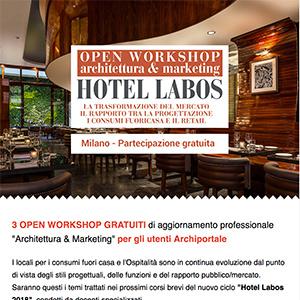 Invito per 3 corsi brevi gratuiti Architettura & Marketing - Milano