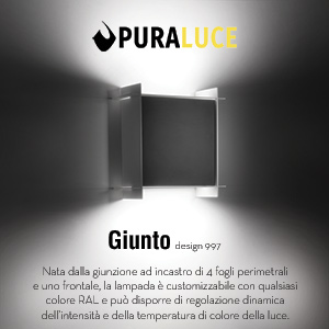 Lampade LED modulari Giunto by Puraluce