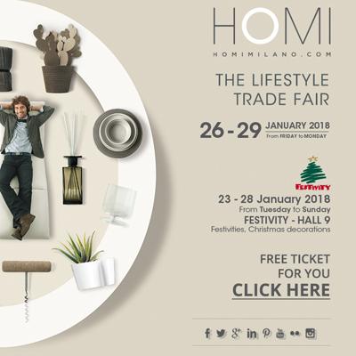 Partecipa gratuitamente a HOMI, Il Salone degli Stili di Vita a Fieramilano Rho
