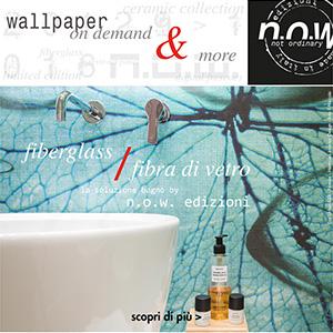 Rivestimenti decorativi in fibra di vetro per ambienti umidi N.O.W. Edizioni