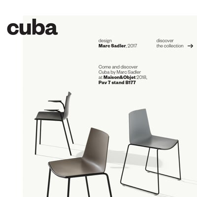 Sedute indoor e outdoor Cuba by Metalmobil