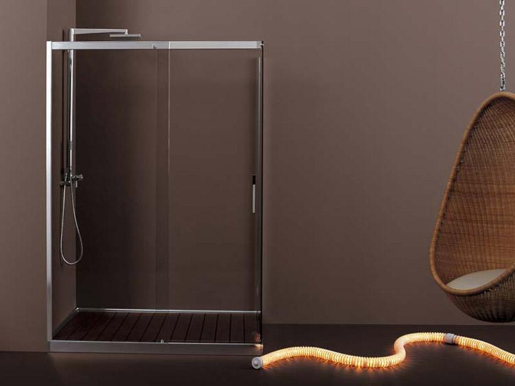 FILODOCCIA - Piatto e cabina doccia in appoggio sul pavimento