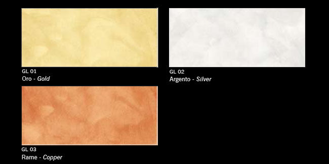 Finitura decorativa effetto metallizzato - Linea Colors - GLAM