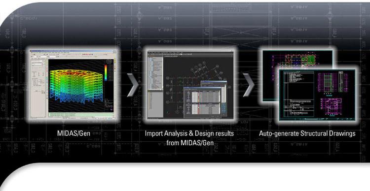 Software per disegno esecutivo di strutture in CA ed acciaio - MIDAS/DShop