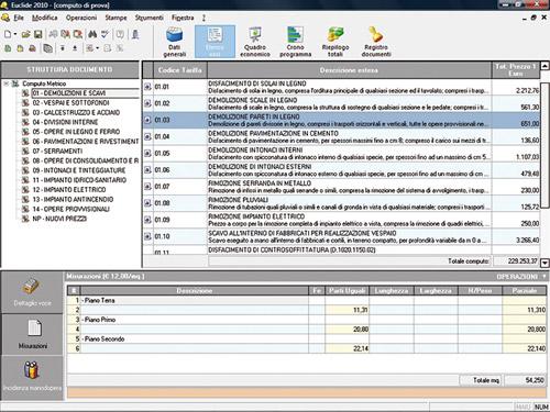 Computo metrico e contabilit lavori avanzamento lavori cronoprogramma euclide computo - Computo metrico ristrutturazione casa ...
