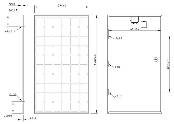 Pannello fotovoltaico in silicio monocristallino - ISF 230 - 235 - 240